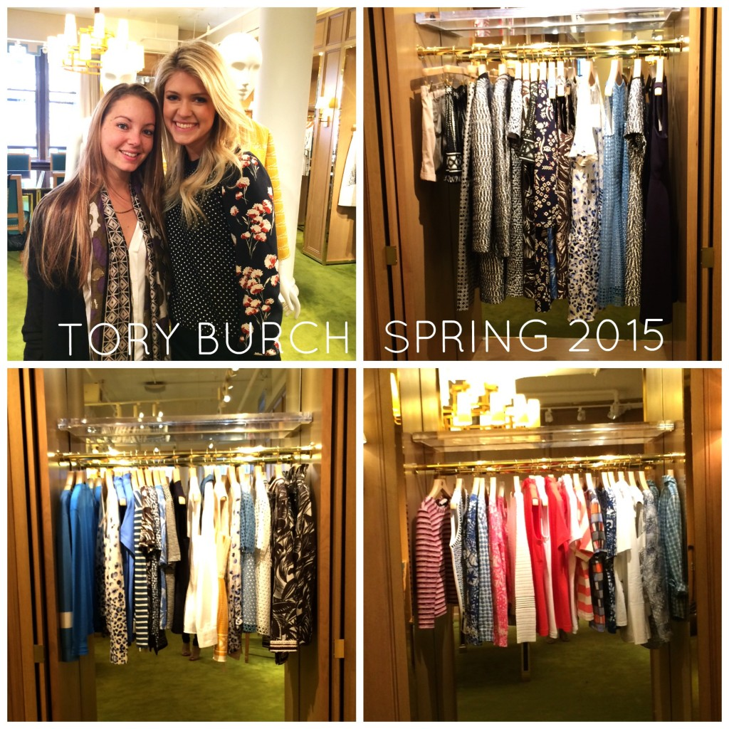 Our Tory Burch ready to wear rep, Alexis & myself and some of the Tory Burch spring collection.
