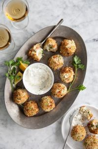 Crab Cake Poppers with Spicy Aioli