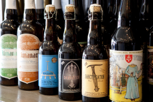 Beer selections from PlumpJack Wine & Spirits in Noe Valley