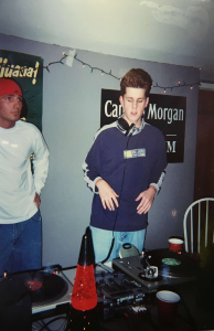 Jared DJing in 2001