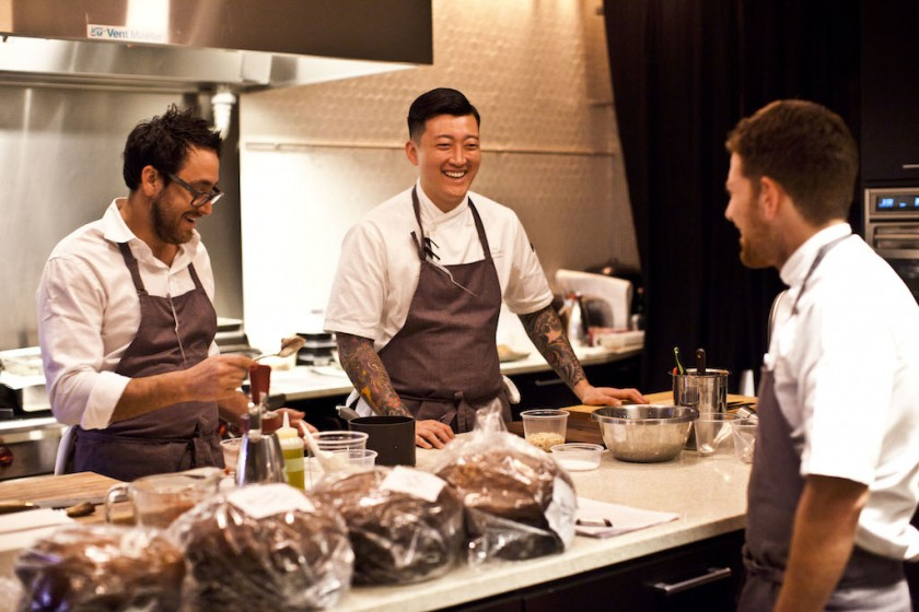 Bon Appetite Test Kitchen NYC with Chef Christopher Kostow & Chef Pancho (Restaurant at Meadowood)