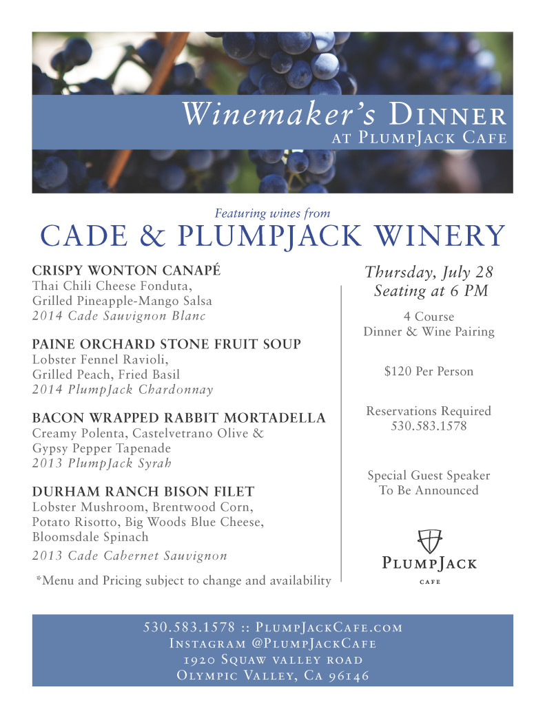 winemaker dinner plumpjack cafe