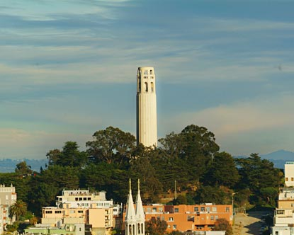 Views of San Francisco from Coit Tower